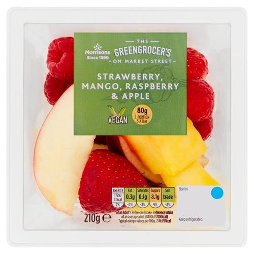 Morrisons Straw Mango Rasp Apple 210g