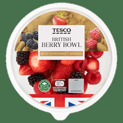 Tesco British Berry Bowl 400g T1